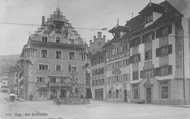 Sklep żelazny Bossard w Zug w 1831 roku