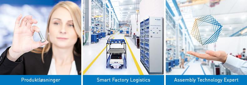 Produktløsninger, Smart Factory Logistics, Assembly Technology Expert