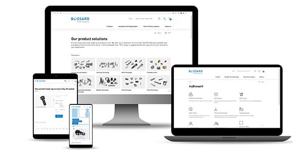 Bossard E-Shop - responsive