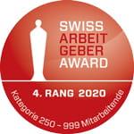 Bossard belegt den 4. Rang beim Swiss Arbeitgeber Award