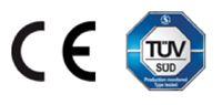Die Produkt- und Verwendungssicherheit wurde vom TÜV Süd mit CE-Kennzeichnung geprüft.