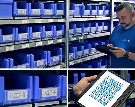 System Bossard SmartBin w fabryce Integer