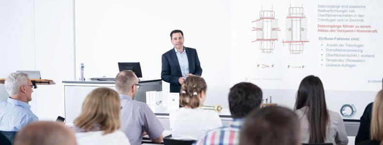 Organización de un seminario en el ámbito del servicio Expert Education de Bossard