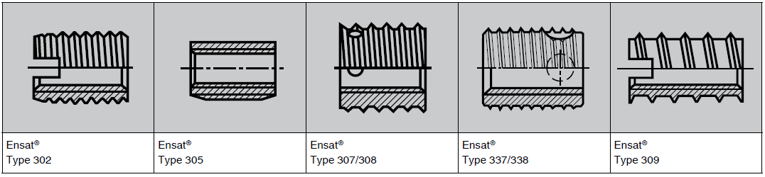 selection criteria for self tapping ensat inserts