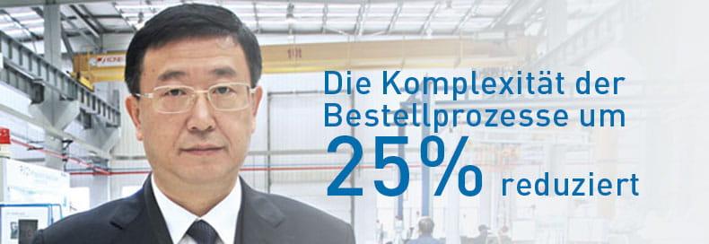 Die Komplexität der Bestellprozesse um 25% reduzieren