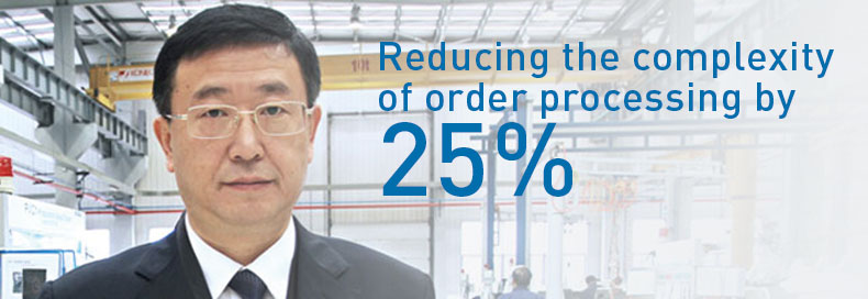 Reducting the complexity of order processing by 25%