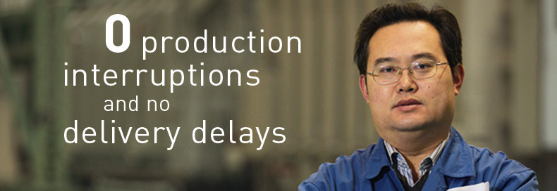 0 production interruptions and no delivery delays