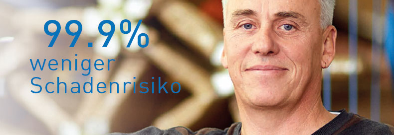 99.9% weniger Schadenrisiko
