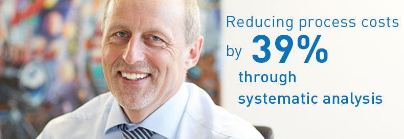 Reducing process costs by 39 %