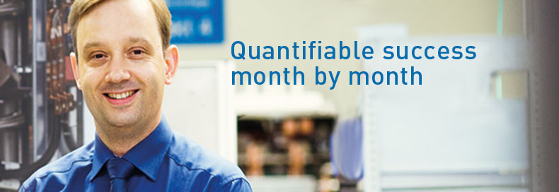 Quantifiable success month by month
