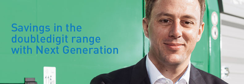 Savings in the doubledigit range with Next Generation