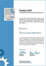 Industriepreis 2017 - Finalist Intralogistik & Produktionsmanagement