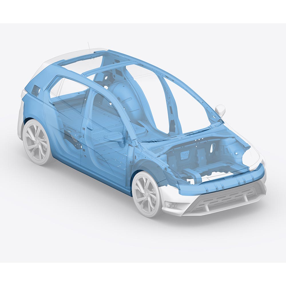 Electric Vehicle Body in White