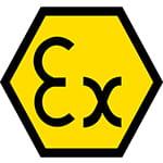 Eksplosionsbeskyttelse symbol