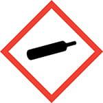 Gasser under tryk symbol