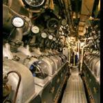 Diesel engine room