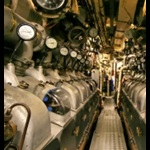 Diesel engine room